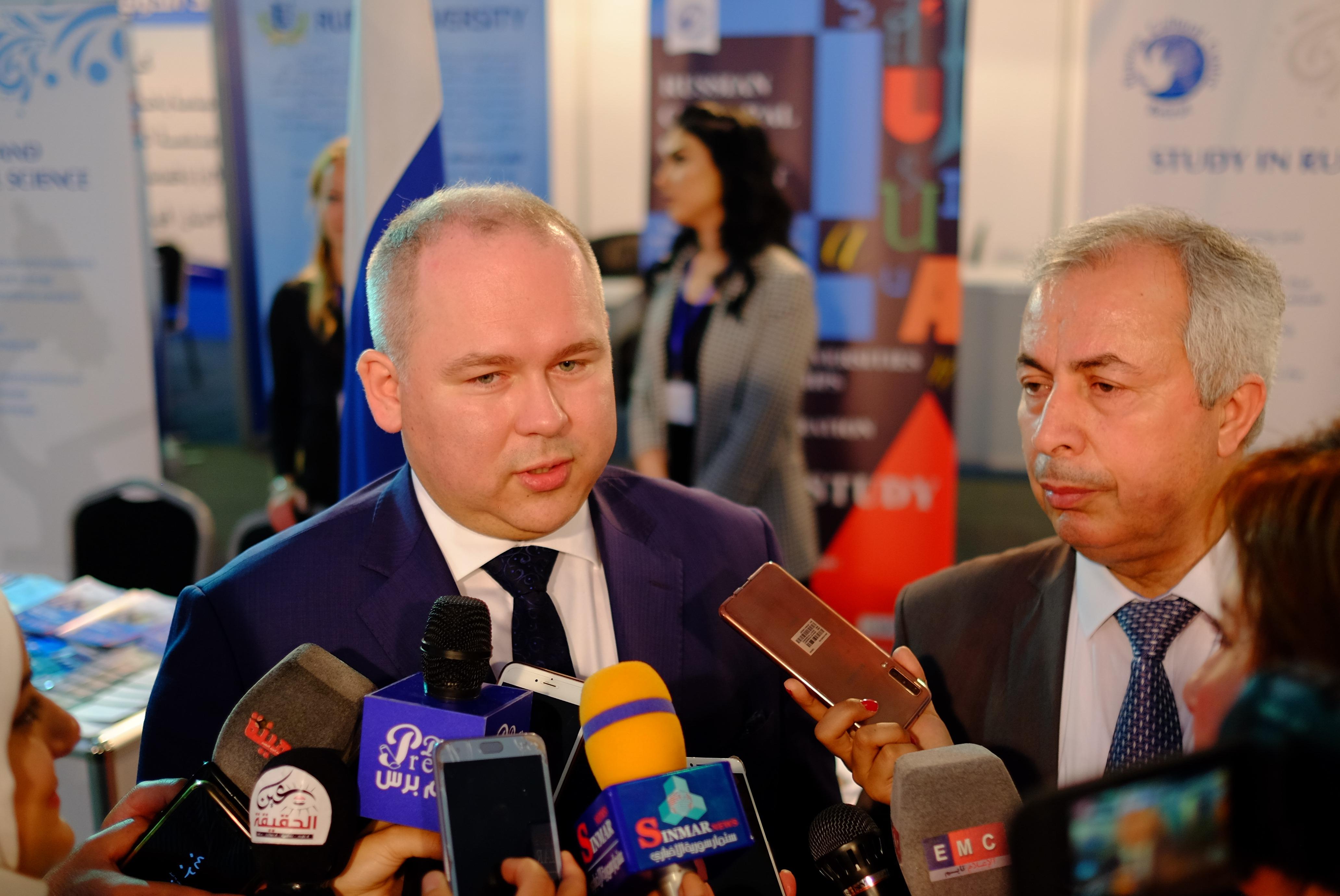 Россотрудничество представило ведущие российские университеты на Международной образовательной выставке в Дамаске