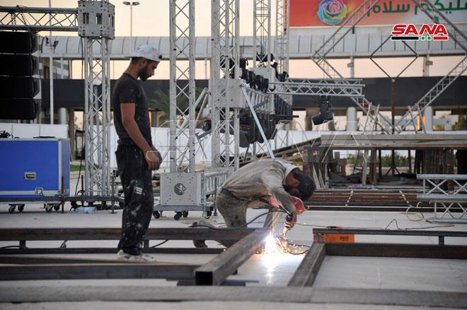 Завершается подготовка к открытию 61-й сессии Дамасской международной выставки